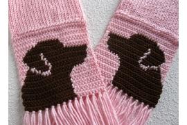 pink lab scarf