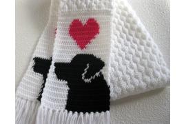 black lab scarf