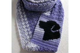 black lab scarf