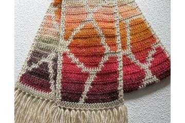 Giraffe Spots Scarf. Animal print scarf in gradient autumn colors