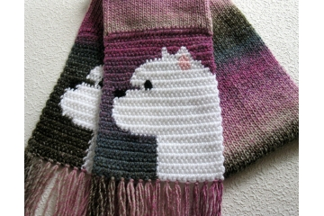 Westie Terrier Scarf. Pet lover gifts with West Highland White dogs