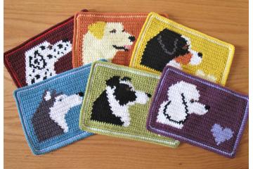 Mug Mat with a yellow lab, Dalmatian, poodle, border collie, mountain dog or Husky dog. Large, dog coasters